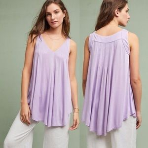 Anthropologie Meadow Rue Lilac Tunic Tank Top